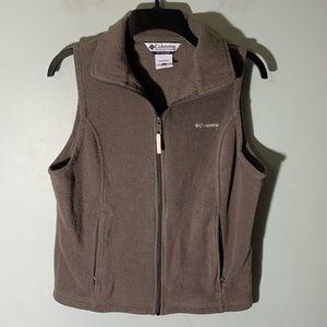 Women's Columbia fleece vest size medium